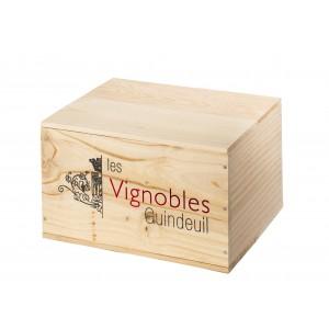caisse bois - 6 bouteilles vin